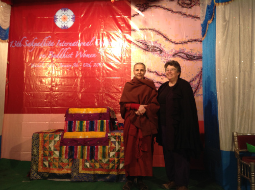 Saranaloka Foundation past president Jill Boone and Santacitta Bhikkhuni